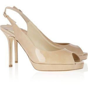 jimmy choo nova heels nude size 38